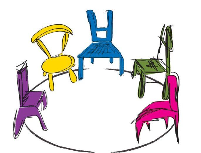sedie in cerchio